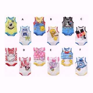 (INSTOCK) Baby Infant Toddler Cartoon Classic Romper Clothes (BUY 2 Free BIB)