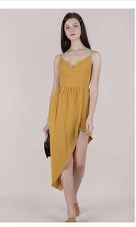Tinsel Rack - Harlan Asymmetry Dress (Mustard)