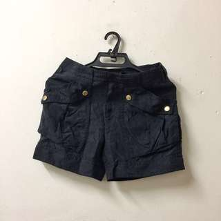 Marc by Marc Jacobs Dark Navy Silk Cargo Shorts