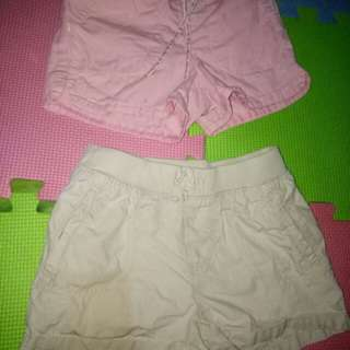 Genuine by Oshkosh & Place Shorts for her(Size 2-3y/o)