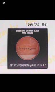 MAC shimmer blush blusher