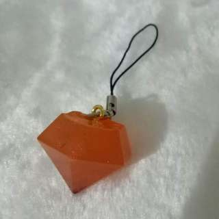 Big Orange diamond keychain