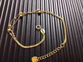 18K金手鍊可調節(16-18cm)