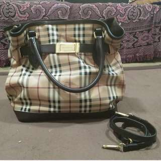 Authentic burberry Haymarket Tote Bag Medium
