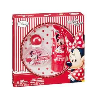 【可超取】全新美妝品 Disney 甜心米妮 女性淡香水+身體乳禮盒 原價1600元 原價1600元 全新附盒子 .
