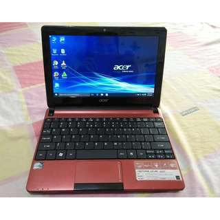 Acer aspire DualCore 4CPUs 2GB Ram 5GB Hdd Netbook