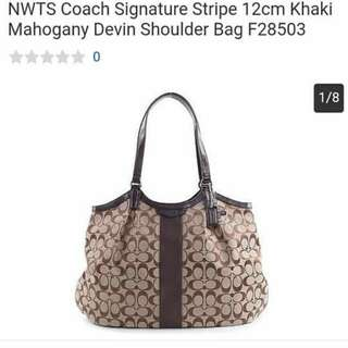 Coach Bag with Serial Number