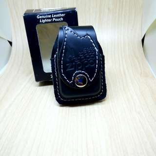 Sarung kulit leather pouch zippo