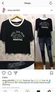Topshop top runs small like US4 im usually US6  #topshopph #forsaleph