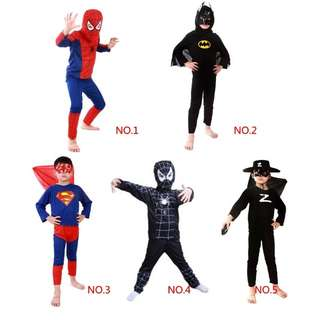 (Preorder) Kids cosplay party costumes