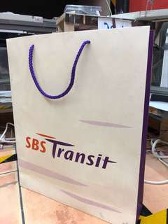 SBS TRANSIT 2001 paper bag collectible