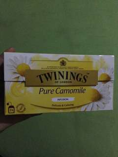 Twinings of London Pure Camomile Infusion 25 Tea Bags With Free 9 Golden Spoon Lagundi Herbal Tea