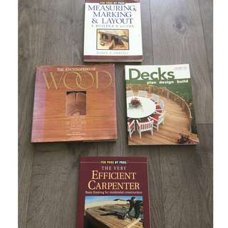 Assorted Carpentry Books