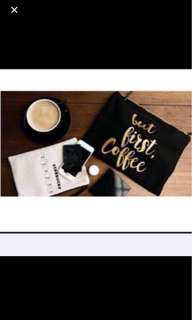 Starbucks black pouch set with limited edition card