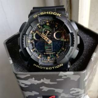 Authentic G-SHOCK Black Resin Camouflage