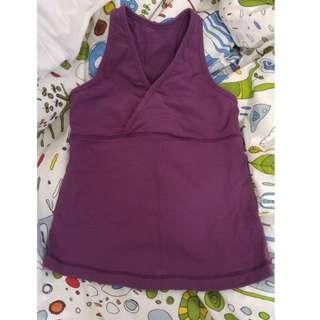 Lululemon size 4 workout top purple