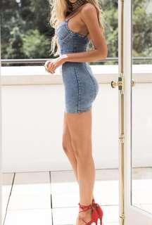 Bodycon Jean Dress  BNWT (can ship for $5)