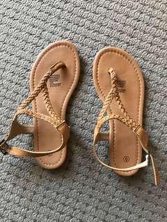 Tan sandals size 6 new