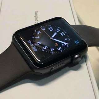 apple watch S3 42mm space gray aluminum GPS 有保用至18年11月