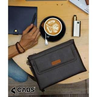 Cabs Pocket Brandon - Tas Dompet Clutch Untuk Pria Bahan Anti Air Desain Simpel Casual Stylish. Dompet Handbag Tas Tangan Pria Multifungsi - Brown
