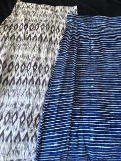 2 maxi skirts