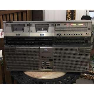 Sharp GF-666 Double Cassette Player (Player Kaset/Pita/Boombox)