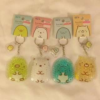 Japan Tokyo Sumikko Gurashi 角落生物 粒粒珠 鎖鑰扣 企鵝 白熊 貓 恐龍