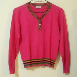 RING桃紅針織衫
