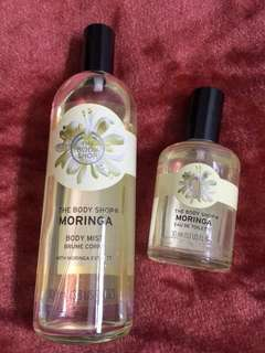 Body Mist and Eau De Toilette Moringa Fragrance