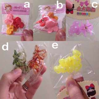 6 pcs. Hair clips for girls
