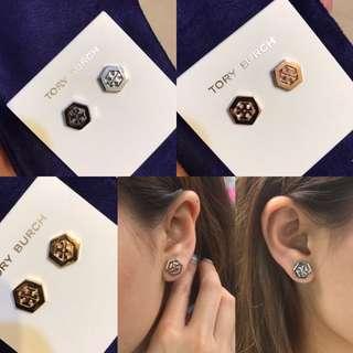Tory burch 六角形logo 耳環