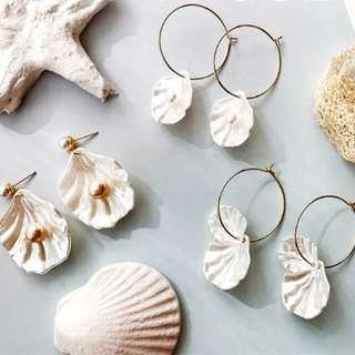 Mermaid Shell & Pearl Earrings