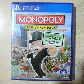 Monopoly Family Fun Pack PS4 R3 Brand New Unopened