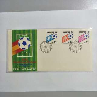 Singapore FDC 1982 World Cup Soccer
