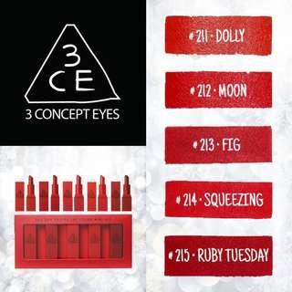 [BN] 3CE Red Recipe Mini Lip Color Set (5EA)
