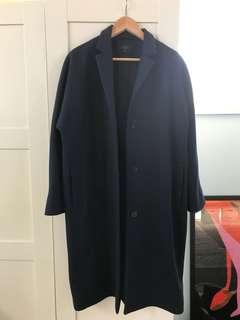 COS navy long coat