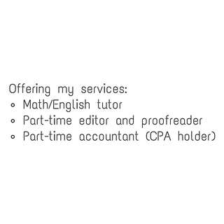 Looking for part-time job