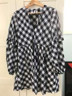 Steele_ Bridgette long sleeve mini dress