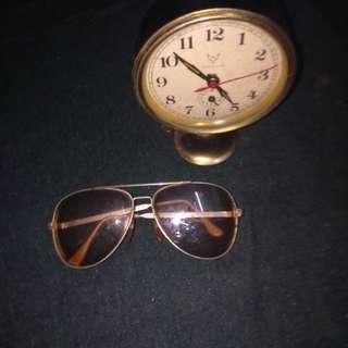 jam antik 1970 dan spek mata lamaa