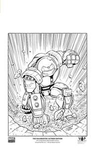 Limited-edition Marvel Art Print: Hulkbuster: Ultron Edition (black and white)