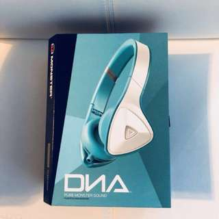 Monster DNA Headphones White Over Teal