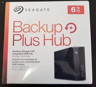 Seagate Backup Plus Hub 6TB External Desktop Hard Drive
