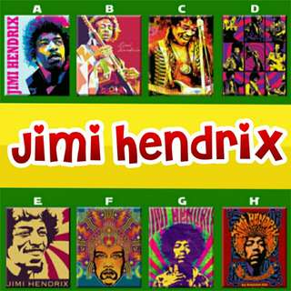Jimi Hendrix Artwork Poster Ref Magnet Collectible
