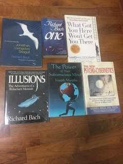 Assorted books - Robert Bach, Marshall Goldsmith, Joseph Murphy, Maxwell Maltz
