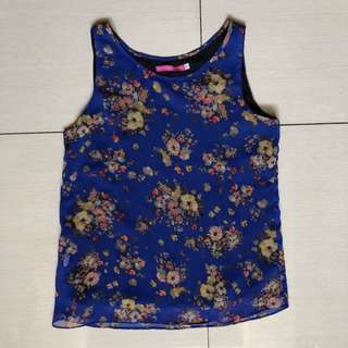 Mommy Matters blue floral nursing top
