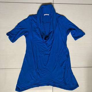 Elin cobalt blue nursing and maternity top