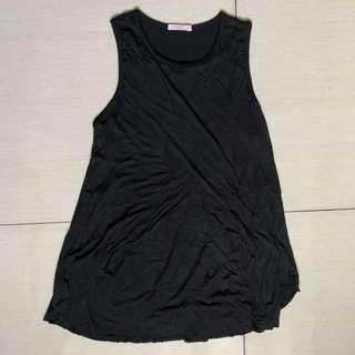 Elin black sleeveless maternity and nursing top