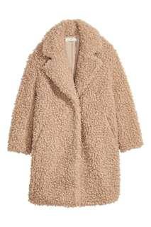 Pink/Beige Faux Fur Teddy Coat