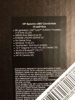 Hp spectre 360 Convertible -13-ae010ca