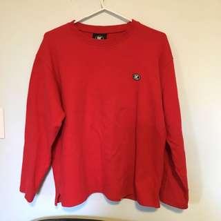 Red crewneck sweater
